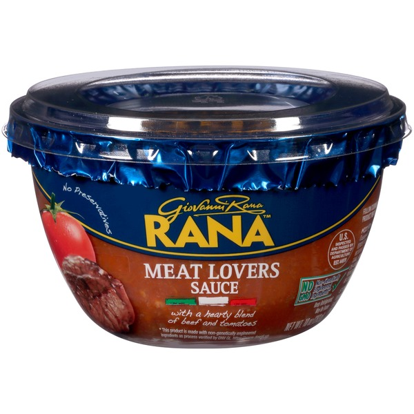 Giovanni Rana Meat Lovers Sauce With A Hearty Blend Of Beef