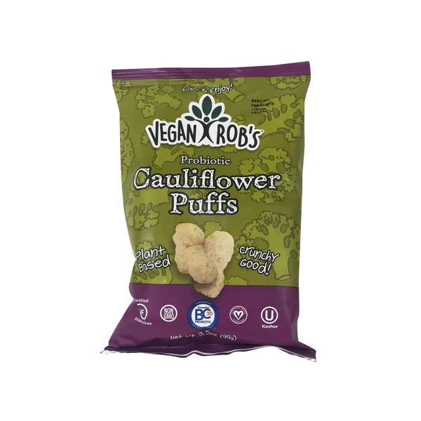 vegan robs cauliflower puffs probiotic 3 5 oz from mariano s
