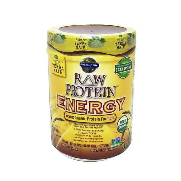 Garden of Life Organic RAW Protein Energy Yerba Mate Vanilla