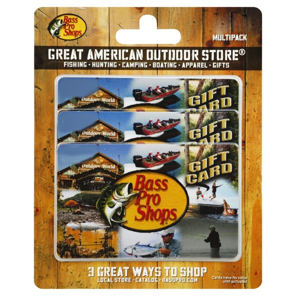 Bass Pro Shops Gift Card, $75 Multipack (3 each) from Vons - Instacart