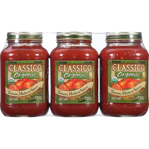Classico Organic Pasta Sauce Tomato, Herbs & Spices (32 oz) from