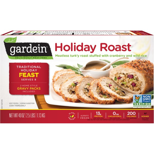 Gardein Holiday Roast with Cranberry and Wild Rice Stuffing