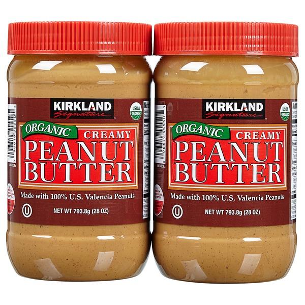 Kirkland Signature Organic Peanut Butter, 2 x 28 oz (28 oz) from