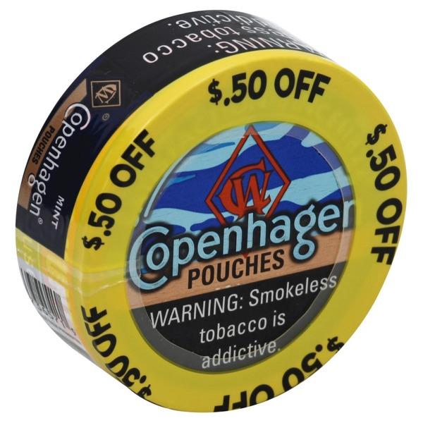 Copenhagen Smokeless Tobacco, Mint, Pouches (0 82 oz) from