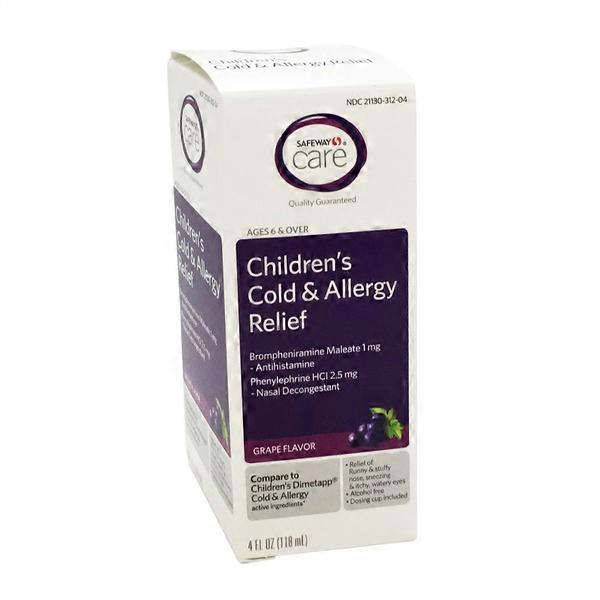 Signature Care Childrens Cold Allergy Relief