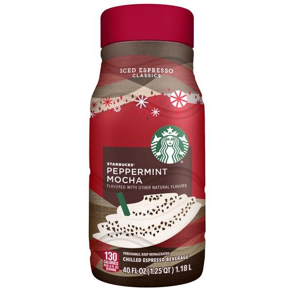 Starbucks Iced Espresso Classics Peppermint Mocha 40 Fl Oz