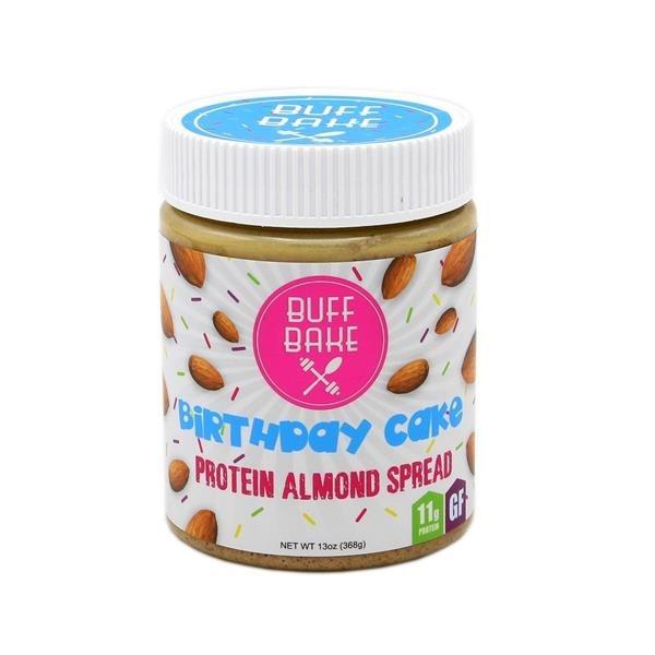Buff Bake Almond Spread Protein Birthday Cake