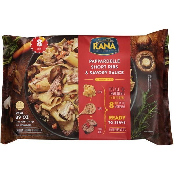 Rana Pappardelle Short Ribs & Savory Sauce Pasta (39 oz