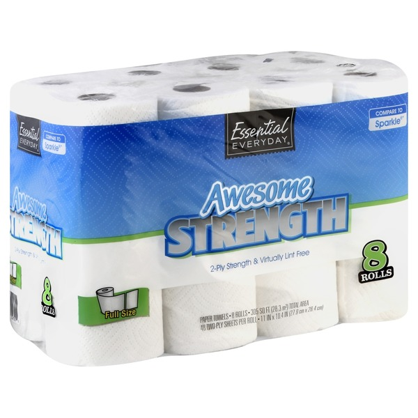 Essential Everyday Awesome Strength Paper Towels (8 ct ...