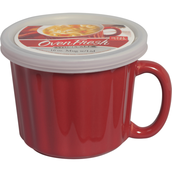 Good Cook Oven Fresh Good Cook Stoneware 16oz Mug w/Lid from ...