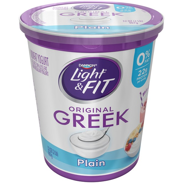 Light Fit Greek Greek Plain Dannon Light Fit Greek Nonfat Yogurt