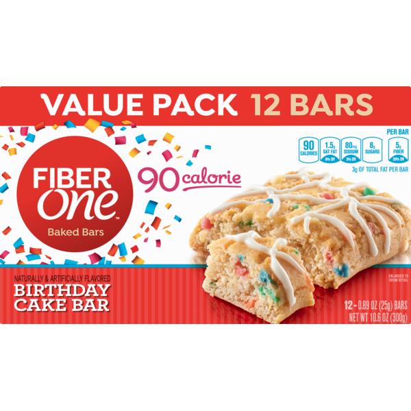 Fiber One Birthday Cake Baked Bar