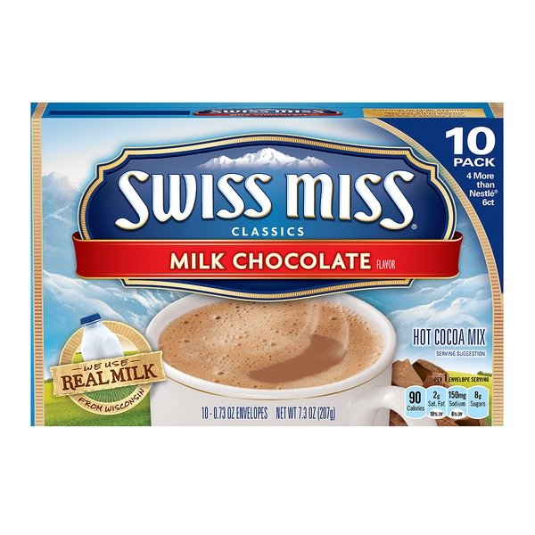 Swiss Miss Hot Cocoa Mix Milk Chocolate 10 Ct From Hmart