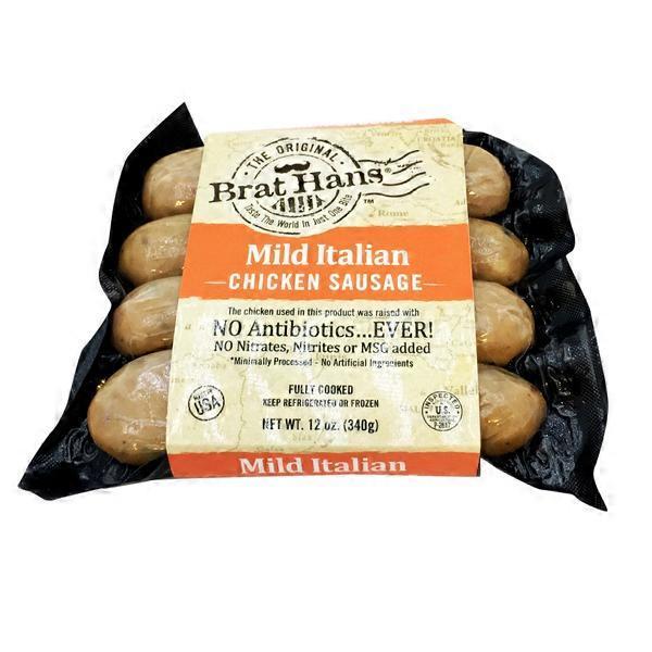 Brat Hans Mild Italian Chicken Sausage 12 Oz From Whole Foods