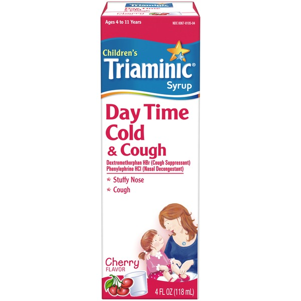 Triaminic Childrens Day Time Cold Cough Cherry Syrup Cough
