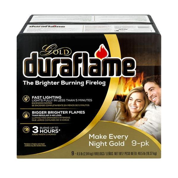 duraflame® Gold 4 5lb 3-hr Firelog – 9pk (4 5 lb) from BJ's