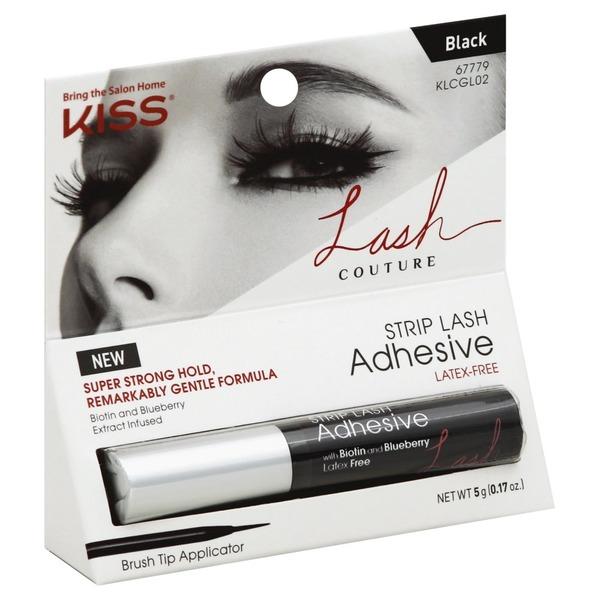 Kiss Strip Lash Adhesive Black Klcgl02 017 Oz From Albertsons