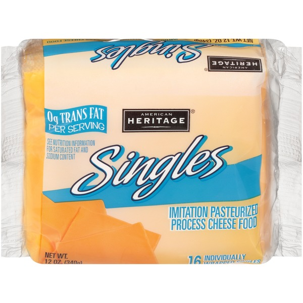 american heritage singles cheese slices 12 oz  instacart