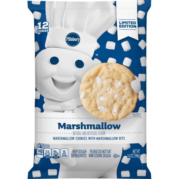Pillsbury Ready To Bake Marshmallow Cookies 14 Oz From Albertsons