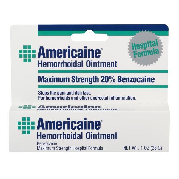 Americaine Hemorrhoidal Ointment Maximum Strength 20% Benzocaine