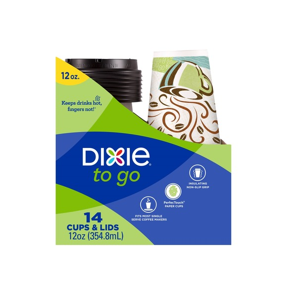 Dixie Go Cups & Lids - 14 CT from Safeway - Instacart