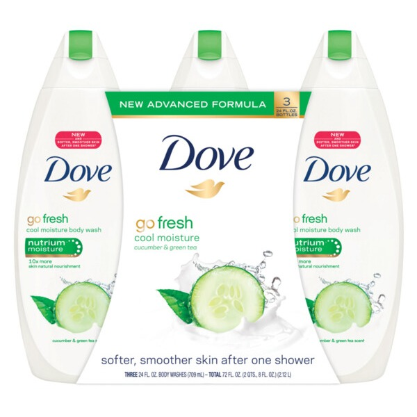 Dove Refreshing Body Wash Cucumber And Green Tea 24 Oz Instacart
