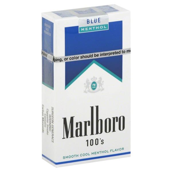 Marlboro Cigarettes, Blue, Menthol, 100's (1 each) from Cub