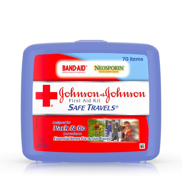 Johnson & Johnson Safe Travels First Aid Kit (1 ct) from CVS
