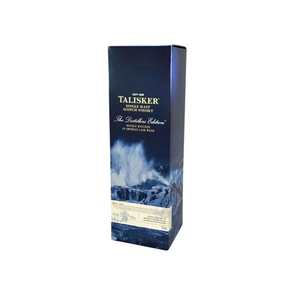 Talisker distillers edition single malt scotch whisky caskers.