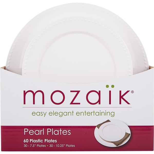 Mozaik Pearl Plates  sc 1 st  Instacart & Mozaik Pearl Plates (60 ct) from Costco - Instacart