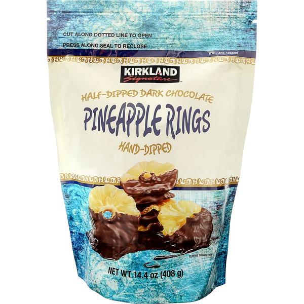 Kirkland Signature Dark Chocolate Pineapple Rings (14 4 oz) from