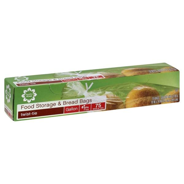 Signature Home Food Storage u0026 Bread Bags Twist-Tie Gallon  sc 1 st  Instacart & Signature Home Food Storage u0026 Bread Bags Twist-Tie Gallon from ...