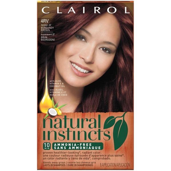 Clairol Natural Instincts, 4RV / 32 Egyptian Plum Burgundy Brown ...