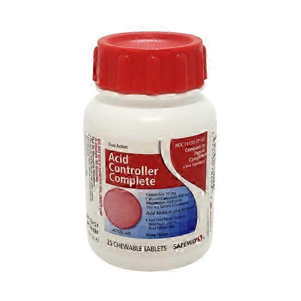 Signature Care Dual Action Acid Reducer Complete Chewable