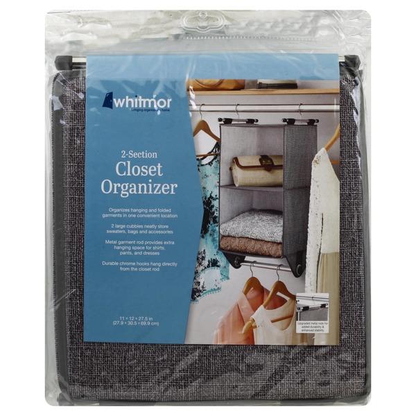 Whitmor Closet Organizer, 2 Section