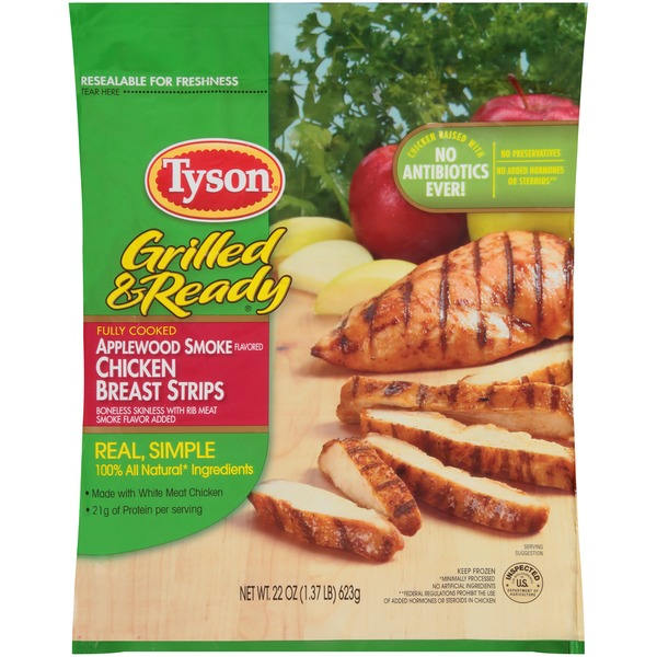 Tyson Grilled And Ready Applewood Smoked Flavored Chicken Breast
