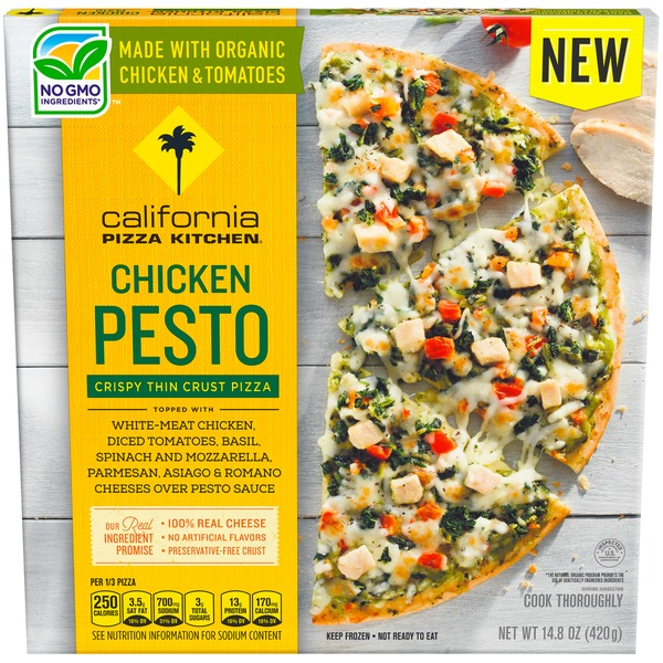 California Pizza Kitchen Chicken Pesto Crispy Thin Crust Frozen CALIFORNIA  PIZZA KITCHEN Chicken Pesto Crispy Thin