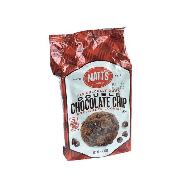 Matt S Bakery Double Chocolate Chip Soft Baked Cookies 14 Oz From