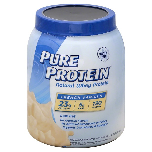 pure protein natural vanilla creme whey protein (25.6 oz) from