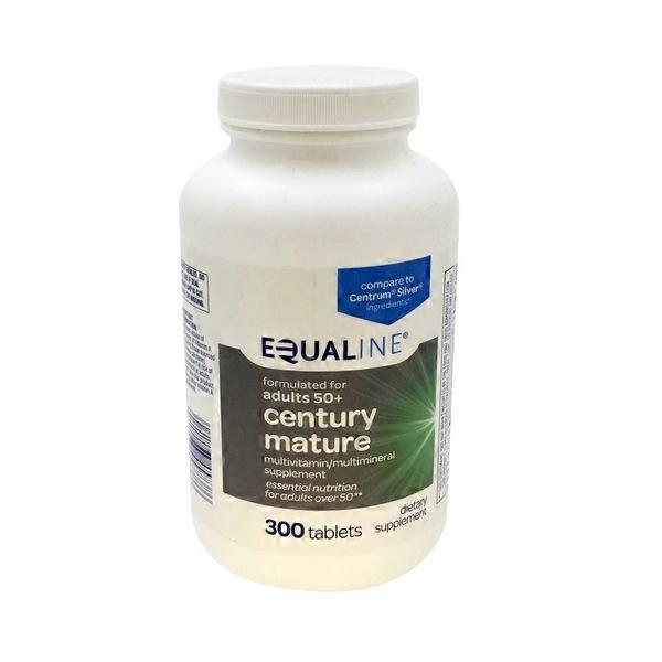 Equaline Century Mature Multivitamin Tablets (300 ct) from