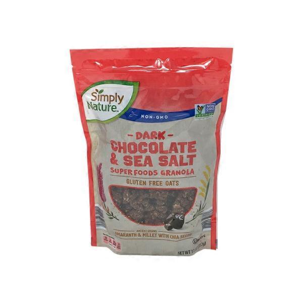 Simply Nature Dark Chocolate Sea Salt 11 Oz From Aldi
