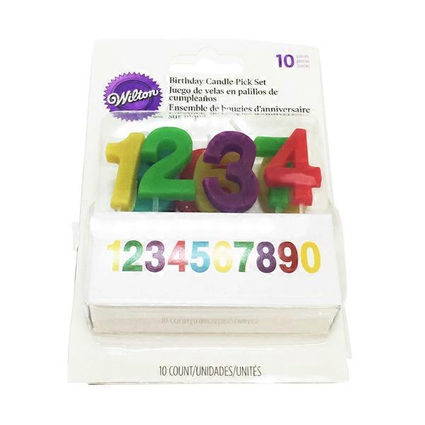 Wilton Numbers Birthday Candle Pick Set