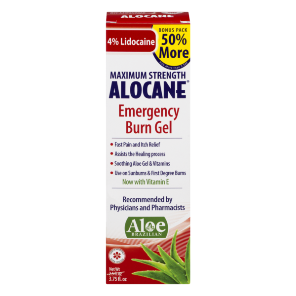 Alocane Maximum Strength Emergency Burn Gel (3 75 fl oz