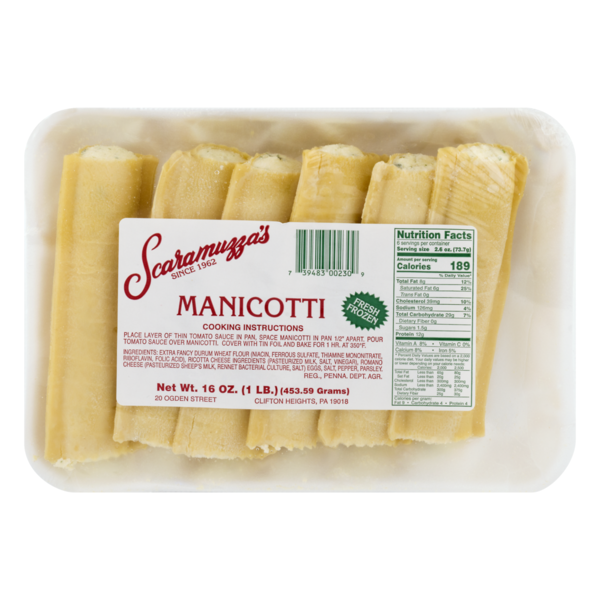 Scaramuzza's Manicotti (16 oz) from Safeway - Instacart