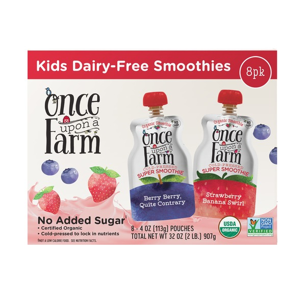 Once Upon A Farm Kids Organic Smoothies 4 Oz Instacart