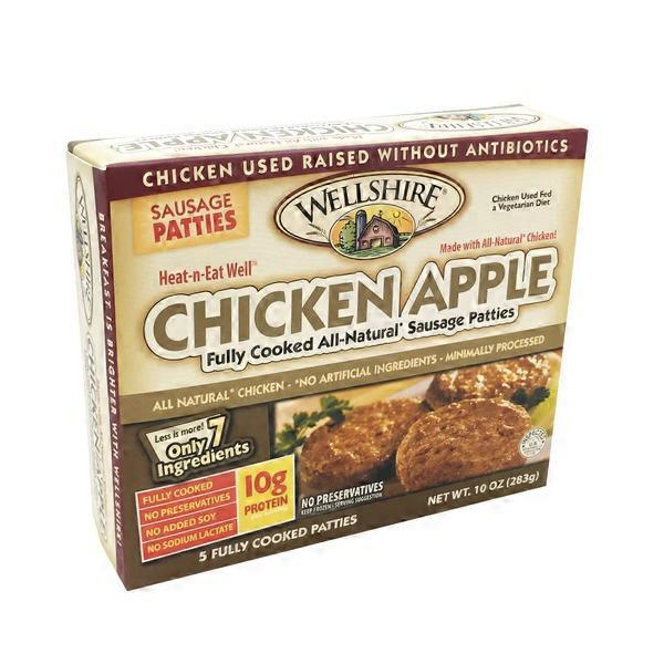 Wellshire Farms Chicken Apple Sausage Patties from Whole Foods Market ...