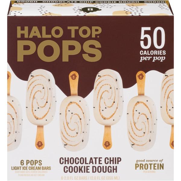 Halo Top Chocolate Chip Cookie Dough Light Ice Cream Mini Pops