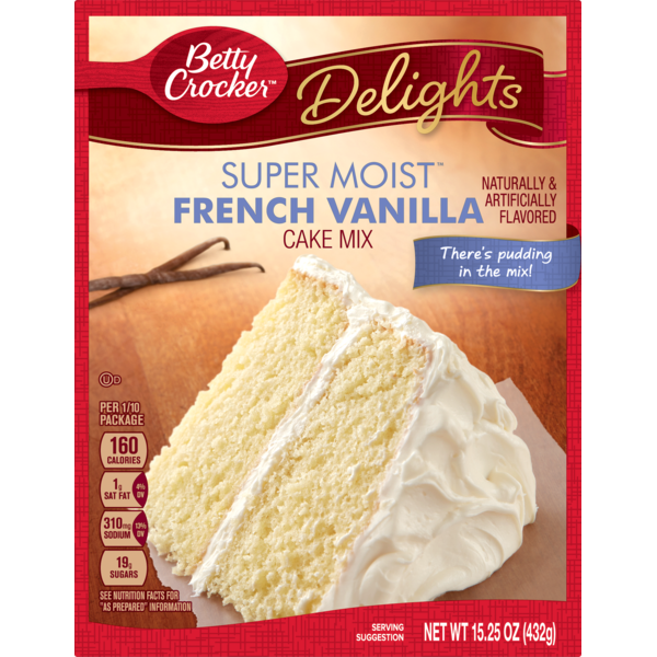 Betty Crocker Super Moist French Vanilla Cake Mix From Kroger