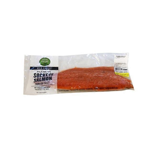 Open Nature Frozen Alaskan Sockeye Salmon Fillet (per lb