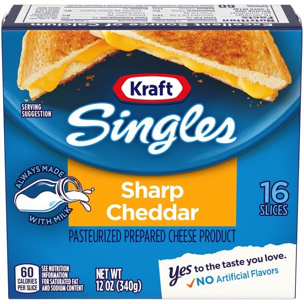 kraft singles calories